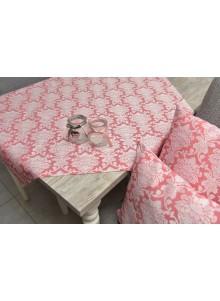 obrus różowy everton