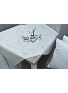 obrus srebny marmur
