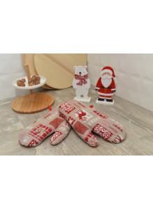 rękawice świąteczne żakardowe