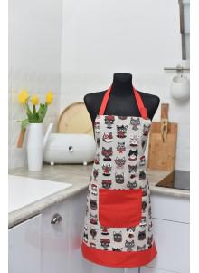Fartuszek kuchenny w koty L/XL